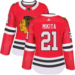 Stan Mikita Chicago Blackhawks Women's Adidas Authentic Red Home Jersey