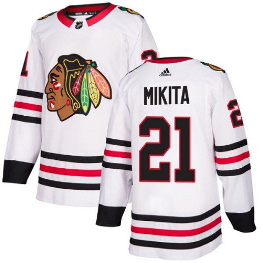 Stan Mikita Chicago Blackhawks Youth Adidas Authentic White Away Jersey