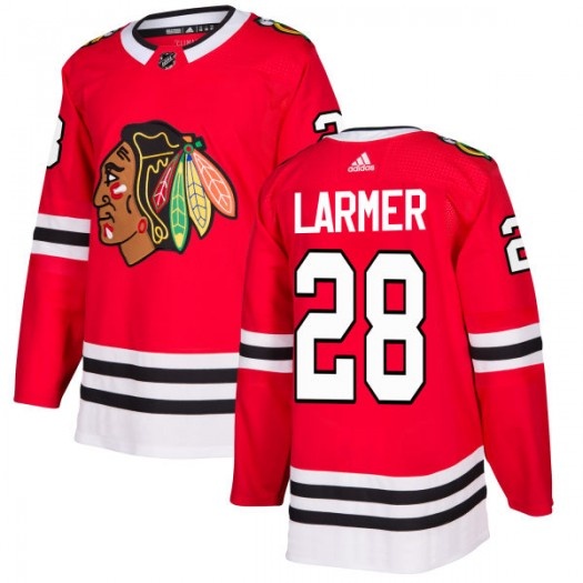 Steve Larmer Chicago Blackhawks Men's Adidas Authentic Red Jersey