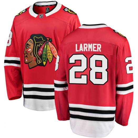 Steve Larmer Chicago Blackhawks Men's Fanatics Branded Red Breakaway Home Jersey