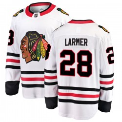 Steve Larmer Chicago Blackhawks Men's Fanatics Branded White Breakaway Away Jersey