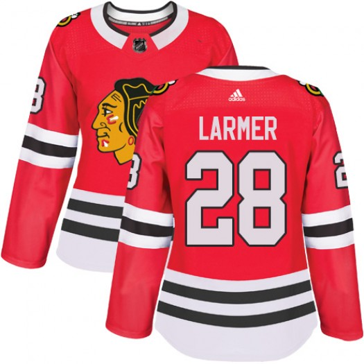 Steve Larmer Chicago Blackhawks Women's Adidas Authentic Red Home Jersey