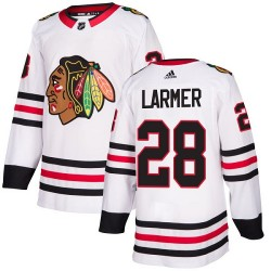 Steve Larmer Chicago Blackhawks Women's Adidas Authentic White Away Jersey