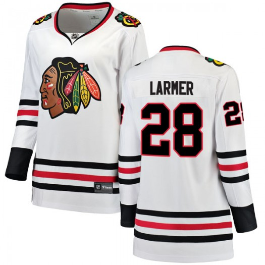 Steve Larmer Chicago Blackhawks Women's Fanatics Branded White Breakaway Away Jersey