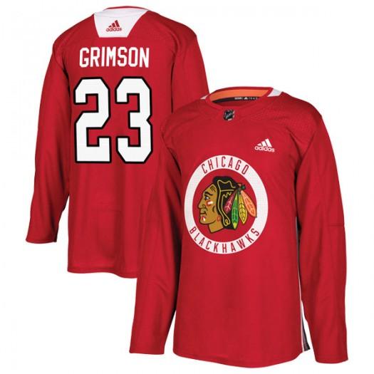 Stu Grimson Chicago Blackhawks Men's Adidas Authentic Red Home Practice Jersey