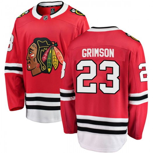 Stu Grimson Chicago Blackhawks Men's Fanatics Branded Red Breakaway Home Jersey