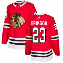 Stu Grimson Chicago Blackhawks Youth Adidas Authentic Red Home Jersey