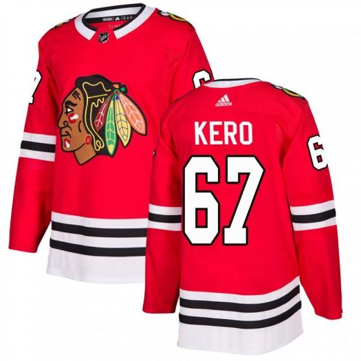 Tanner Kero Chicago Blackhawks Men's Adidas Authentic Red Home Jersey