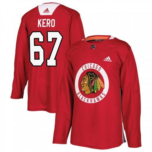 Tanner Kero Chicago Blackhawks Men's Adidas Authentic Red Home Practice Jersey