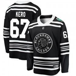 Tanner Kero Chicago Blackhawks Men's Fanatics Branded Black 2019 Winter Classic Breakaway Jersey