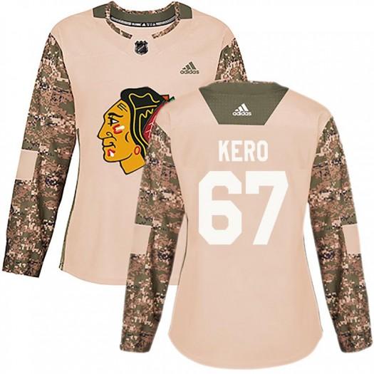Tanner Kero Chicago Blackhawks Women's Adidas Authentic Camo Veterans Day Practice Jersey