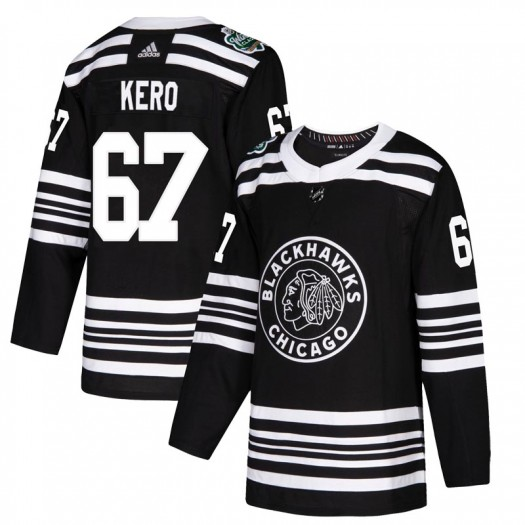 Tanner Kero Chicago Blackhawks Youth Adidas Authentic Black 2019 Winter Classic Jersey