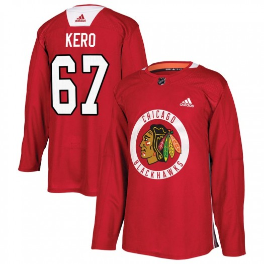Tanner Kero Chicago Blackhawks Youth Adidas Authentic Red Home Practice Jersey