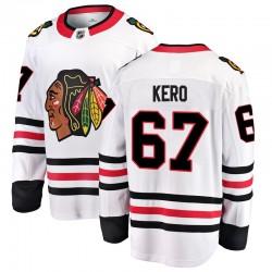 Tanner Kero Chicago Blackhawks Youth Fanatics Branded White Breakaway Away Jersey