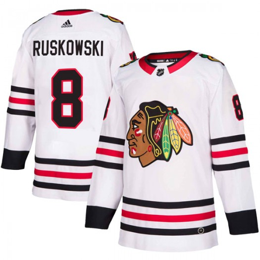 Terry Ruskowski Chicago Blackhawks Men's Adidas Authentic White Away Jersey