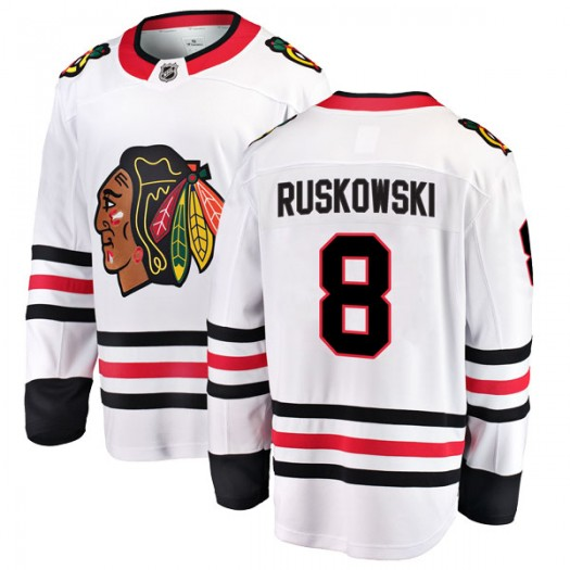 Terry Ruskowski Chicago Blackhawks Men's Fanatics Branded White Breakaway Away Jersey