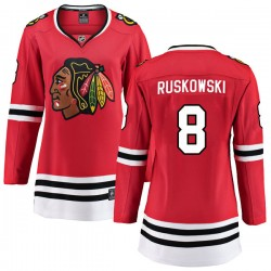 Terry Ruskowski Chicago Blackhawks Women's Fanatics Branded Red Breakaway Home Jersey