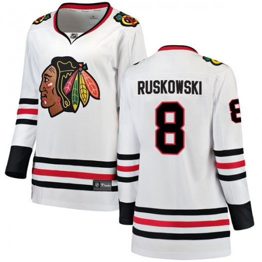 Terry Ruskowski Chicago Blackhawks Women's Fanatics Branded White Breakaway Away Jersey