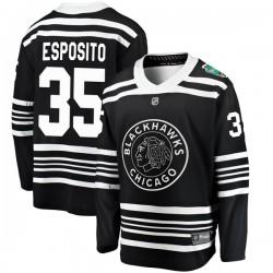 Tony Esposito Chicago Blackhawks Youth Fanatics Branded Black 2019 Winter Classic Breakaway Jersey