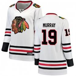 Troy Murray Chicago Blackhawks Women's Fanatics Branded White Breakaway Away Jersey