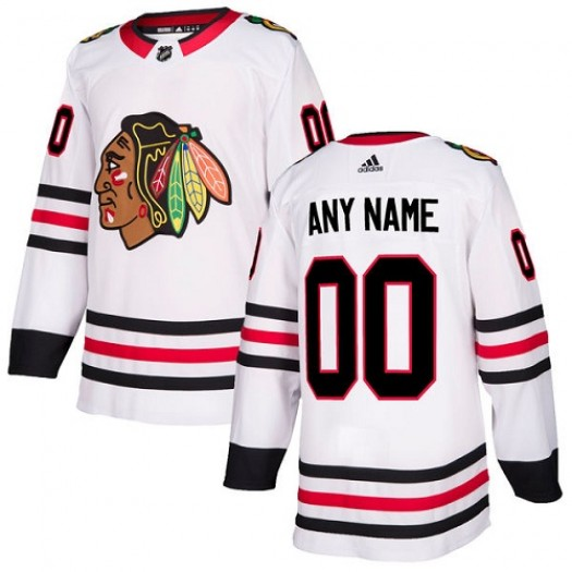 Women's Adidas Chicago Blackhawks Customized Authentic White Away Jersey