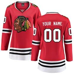 Women's Fanatics Branded Chicago Blackhawks Customized Breakaway Red Home Jersey
