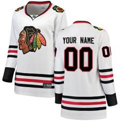 Women's Fanatics Branded Chicago Blackhawks Customized Breakaway White Away Jersey