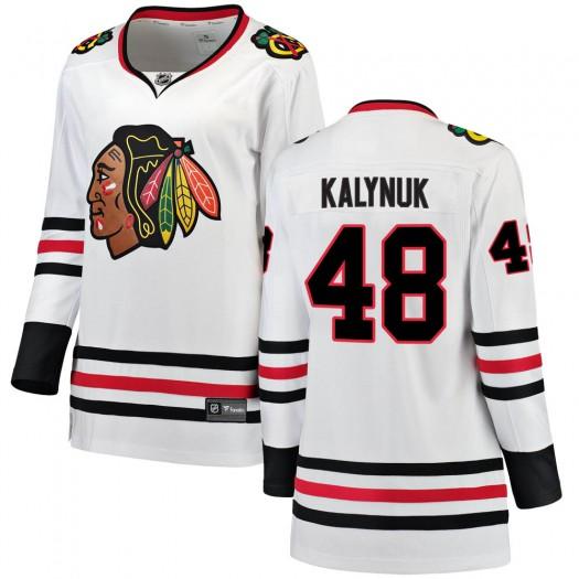 Wyatt Kalynuk Chicago Blackhawks Women's Fanatics Branded White Breakaway Away Jersey