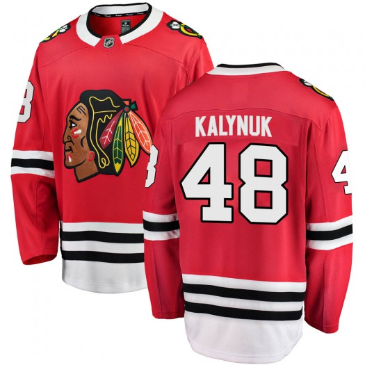 Wyatt Kalynuk Chicago Blackhawks Youth Fanatics Branded Red Breakaway Home Jersey