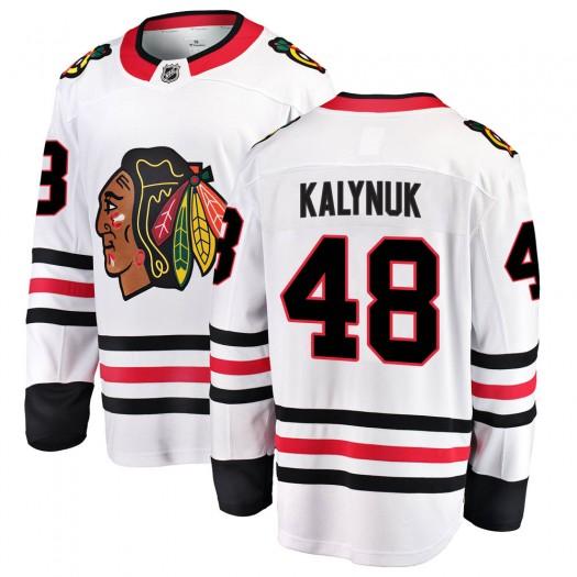 Wyatt Kalynuk Chicago Blackhawks Youth Fanatics Branded White Breakaway Away Jersey