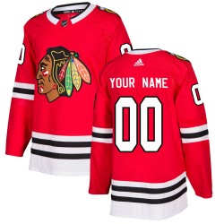 Youth Adidas Chicago Blackhawks Customized Authentic Red Home Jersey