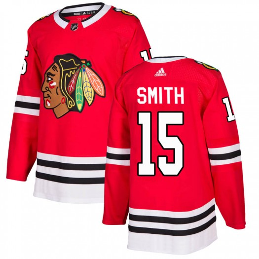 Zack Smith Chicago Blackhawks Men's Adidas Authentic Red Home Jersey