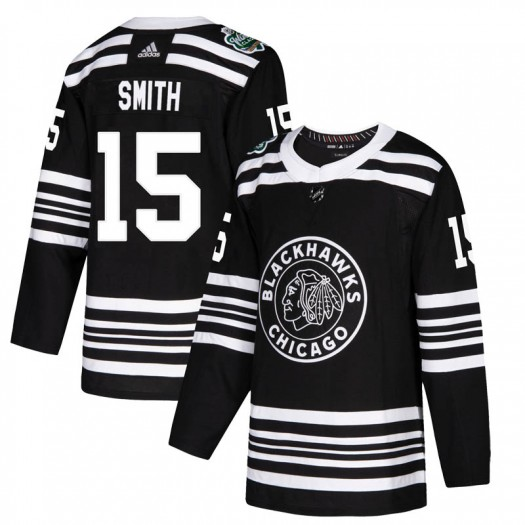 Zack Smith Chicago Blackhawks Youth Adidas Authentic Black 2019 Winter Classic Jersey