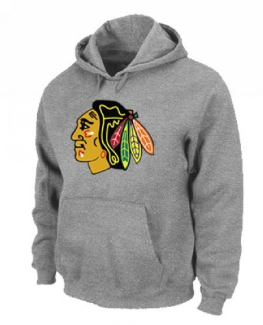 Chicago Blackhawks Men's Grey Pullover Hoodie