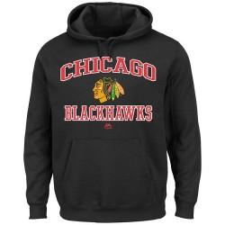 Chicago Blackhawks Men's Majestic Black Heart & Soul Hoodie