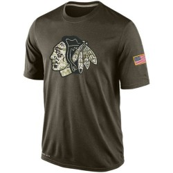 Chicago Blackhawks Men's Nike Olive Salute To Service KO Performance Dri-FIT T-Shirt
