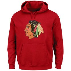 Chicago Blackhawks Men's Red Rinkside Big & Tall Primary Logo Pullover Hoodie