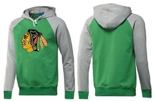 Chicago Blackhawks Men's Green Big & Tall Logo Pullover Hoodie/Grey