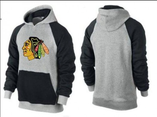 Chicago Blackhawks Men's Black Big & Tall Logo Pullover HoodieGrey/