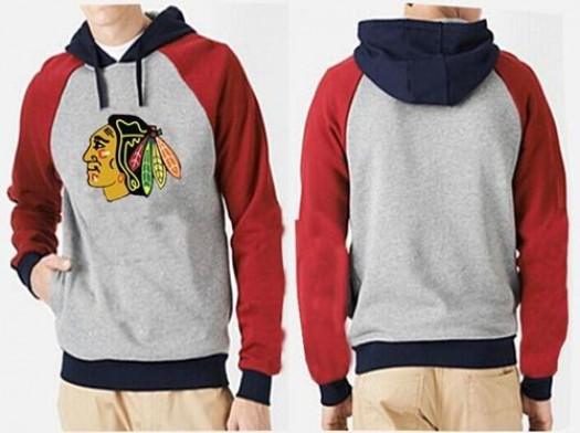 Chicago Blackhawks Men's Grey Big & Tall Logo Pullover Hoodie/Red