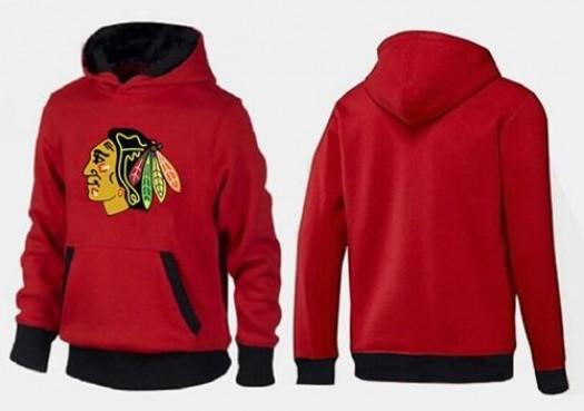Chicago Blackhawks Men's Red/Black Big & Tall Logo Pullover Hoodie