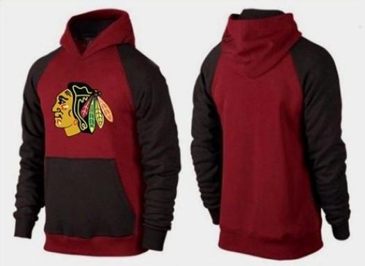 Chicago Blackhawks Men's Red Big & Tall Logo Pullover Hoodie/Brown