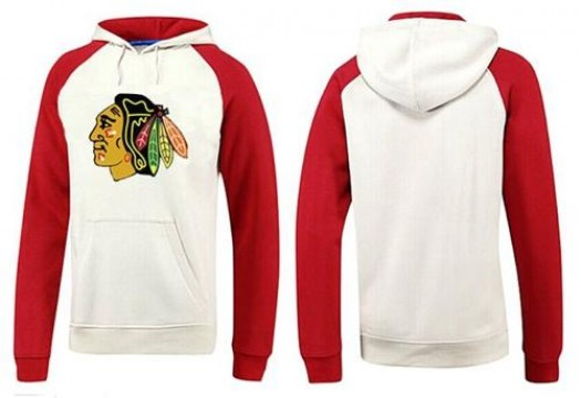 Chicago Blackhawks Men's White Big & Tall Logo Pullover Hoodie/Red