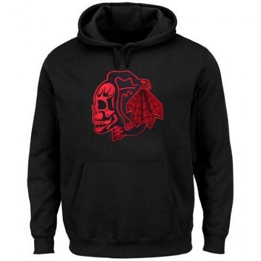 Chicago Blackhawks Men's Black Hoodie