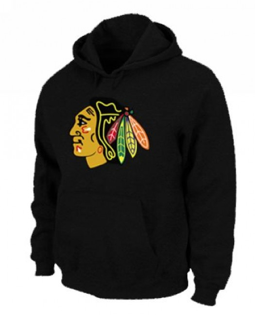Chicago Blackhawks Men's Black Pullover Hoodie