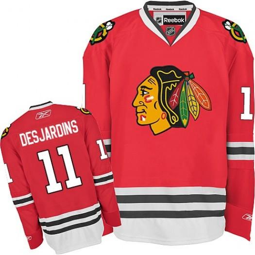 Andrew Desjardins Chicago Blackhawks Men's Reebok Authentic Red Home Jersey