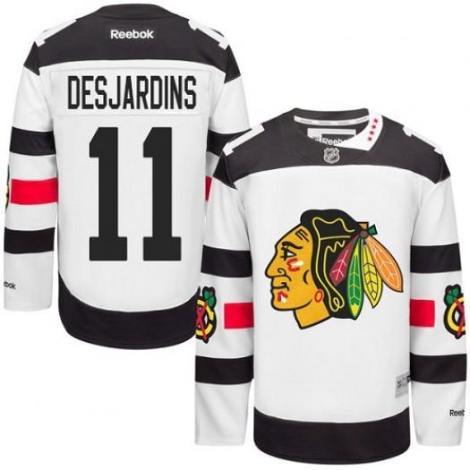 Andrew Desjardins Chicago Blackhawks Men's Reebok Authentic White 2016 Stadium Series Jersey