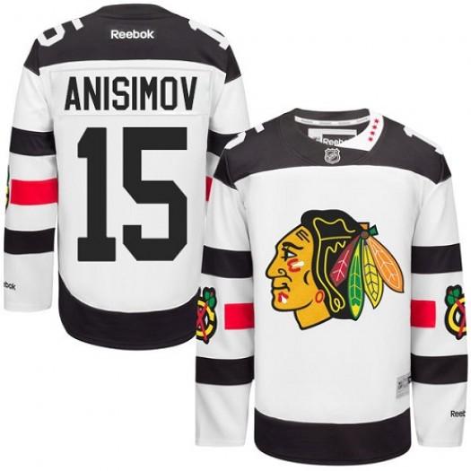 Artem Anisimov Chicago Blackhawks Men's Reebok Premier White 2016 Stadium Series Jersey