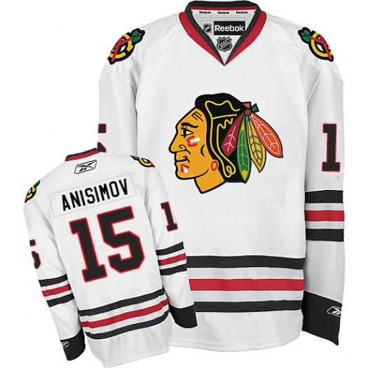 Artem Anisimov Chicago Blackhawks Men's Reebok Premier White Away Jersey