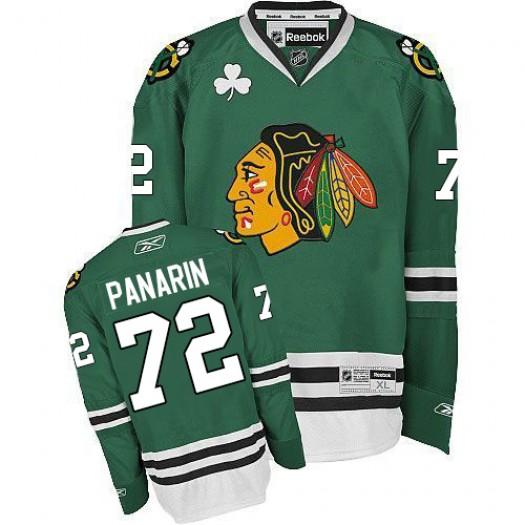 Artemi Panarin Chicago Blackhawks Men's Reebok Authentic Green Jersey